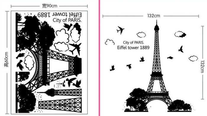 Jual New Wallsticker Uk 60x90 Wall Stiker Eiffel City Of Paris Cengkareng Leu Kangs Tokopedia